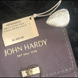 John hardy Diamond Ring SZ 6